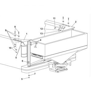 Western Low Profile Tailgate Spreader Model 1000 Parts