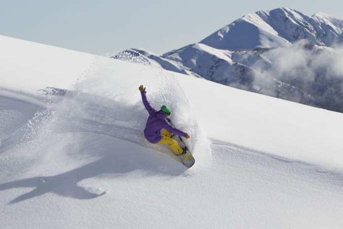 Snowboarder at Hotham
