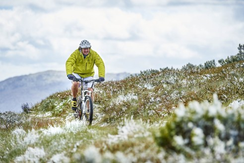 Andrew'Rails' Railton riding on Mt Buller