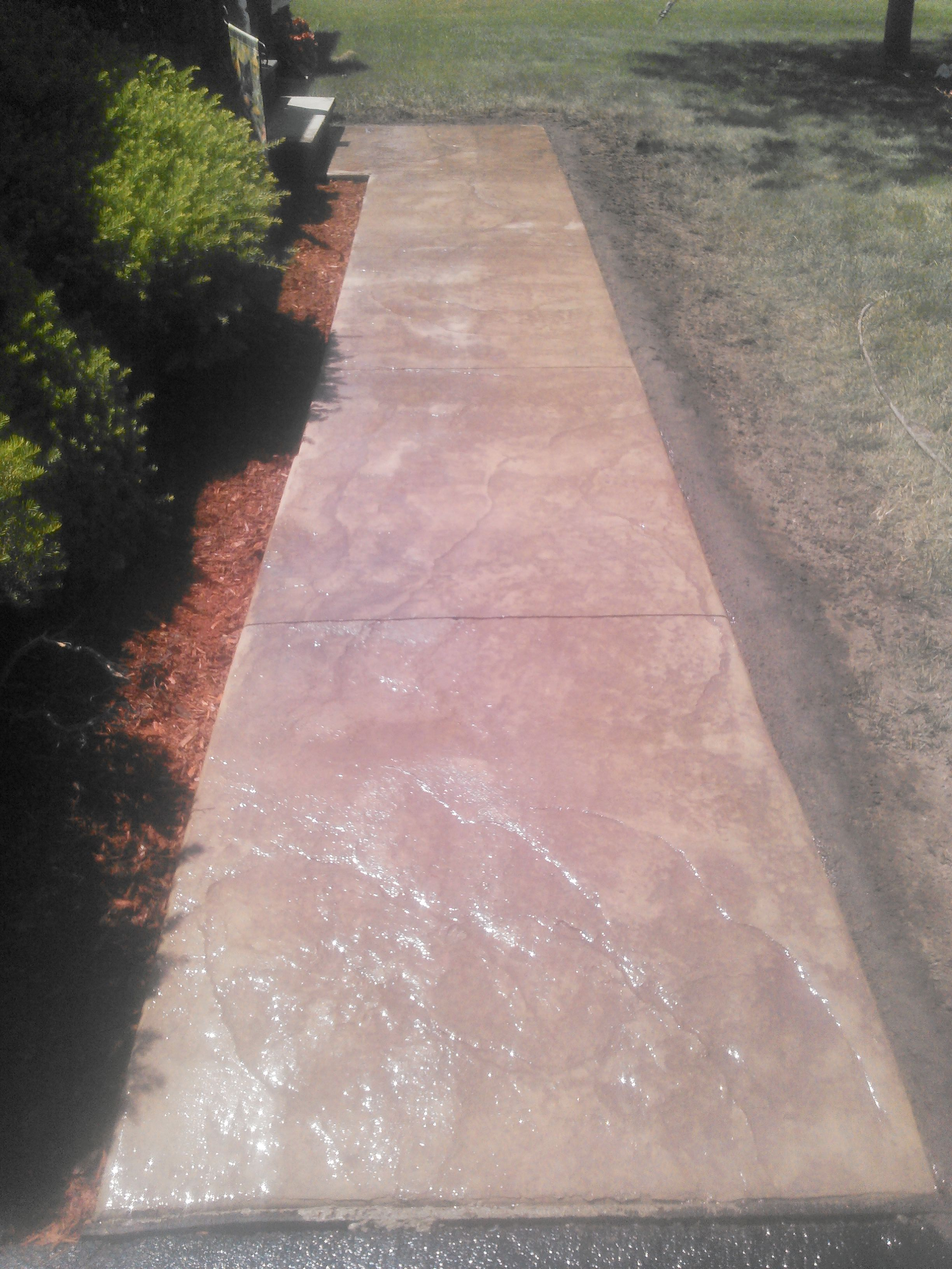 Stamped Concrete Walkway Binghamton NY Snows Building