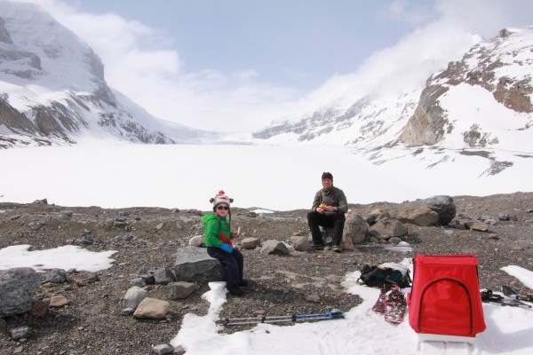 Lunch at the Athabasca Glacier