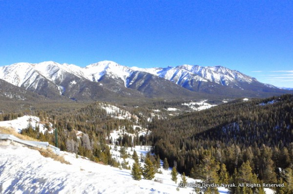 View of Idaho's Sawtooth mountains from Galena summit