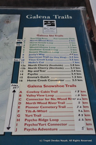 Snowshoe trails and more at Galena Lodge