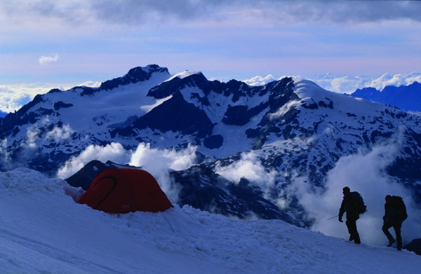 Camping on high in Tignes, France