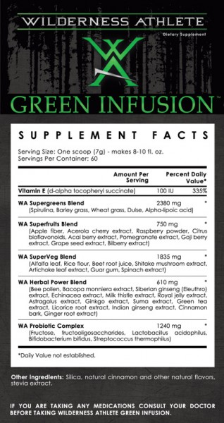 incivility WA Green infusion ingredients