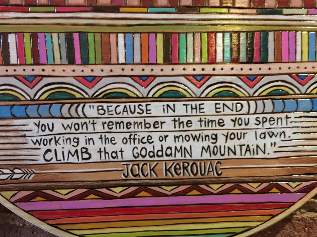 Powder day clause inspiration from Jack Kerouac