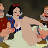 Snow White love group sex with horny dwarfs
