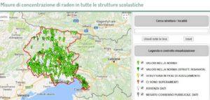 Misure di concentrazione di radon in tutte le strutture scolastiche