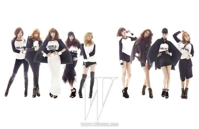 SNSD for W Korea High Fashion PhotoShoot  SNSD Korean