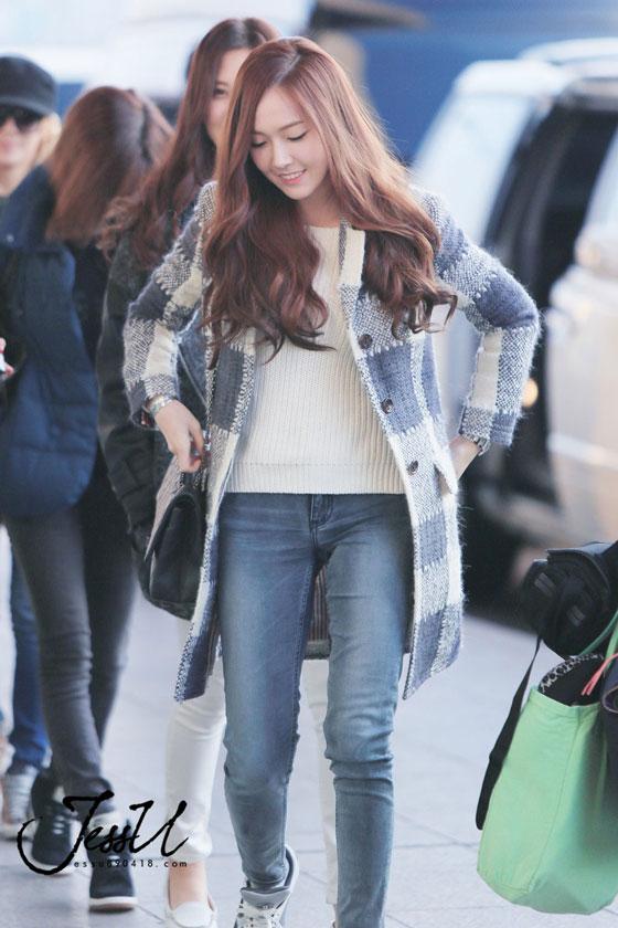 SNSD Jessica Gimpo Airport fashion to Japan