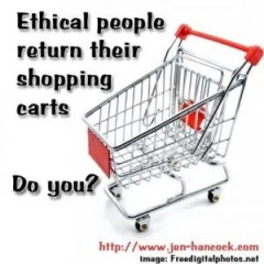 Ethical people return their shopping carts