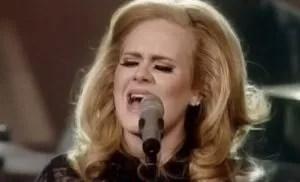 "Adele, ""Set Fire to the Rain""."