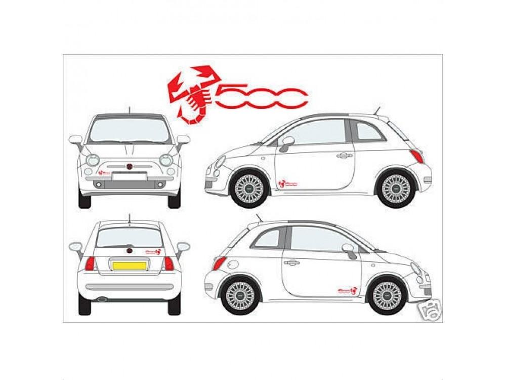 Decal to fit Fiat 500 Abarth Skorpio Skorpionen side decal