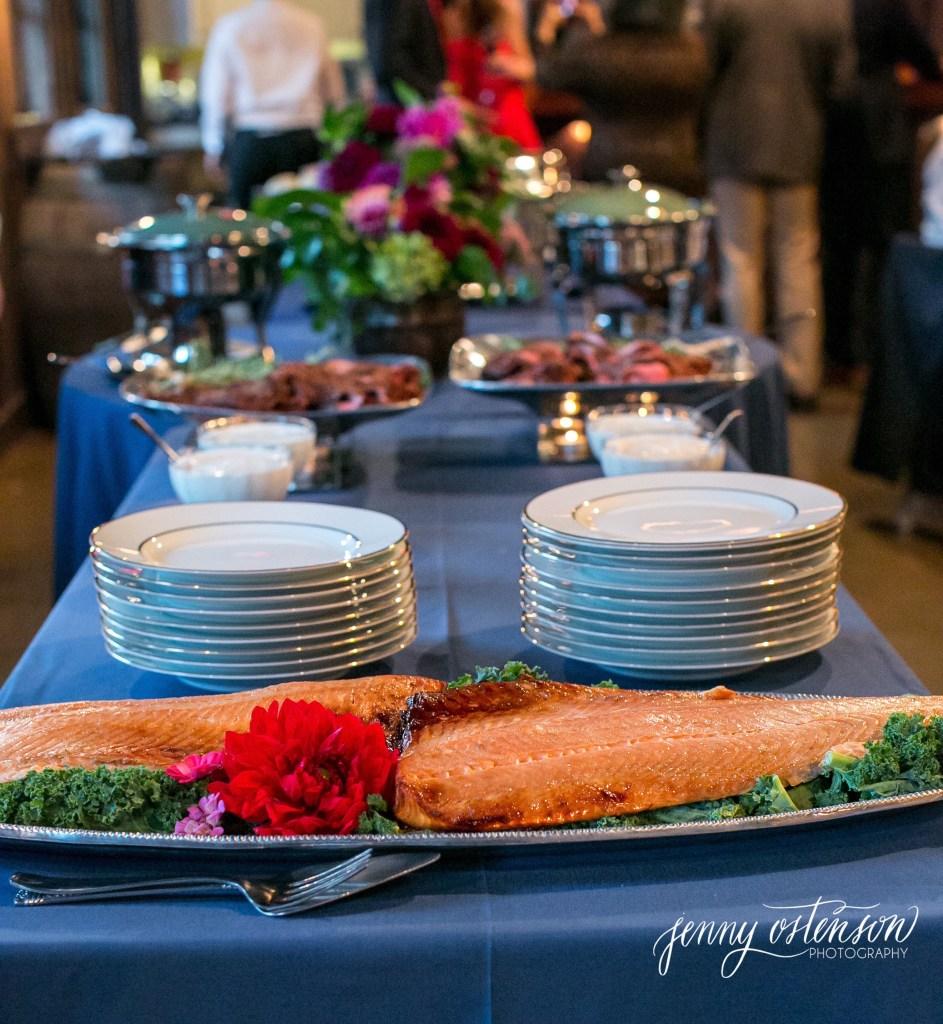 corporate salmon dinner