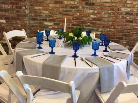 Love the Blue Goblets!