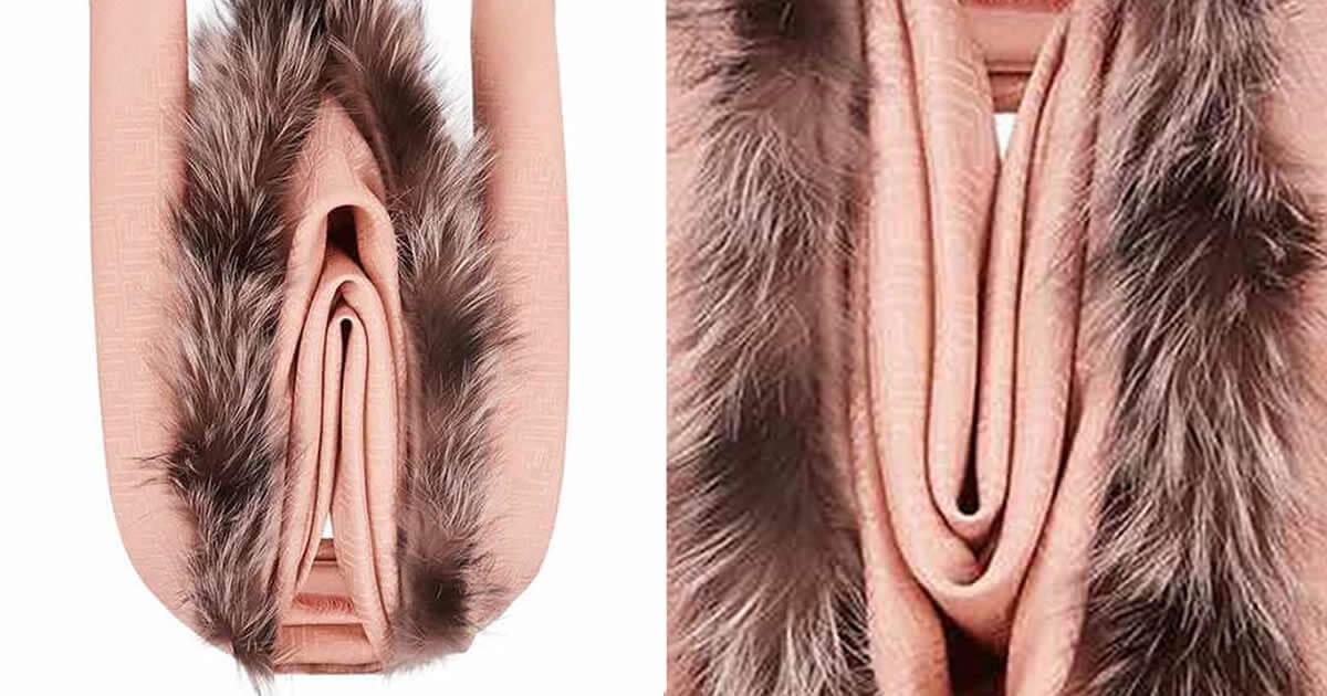 Fendi vulva shawl