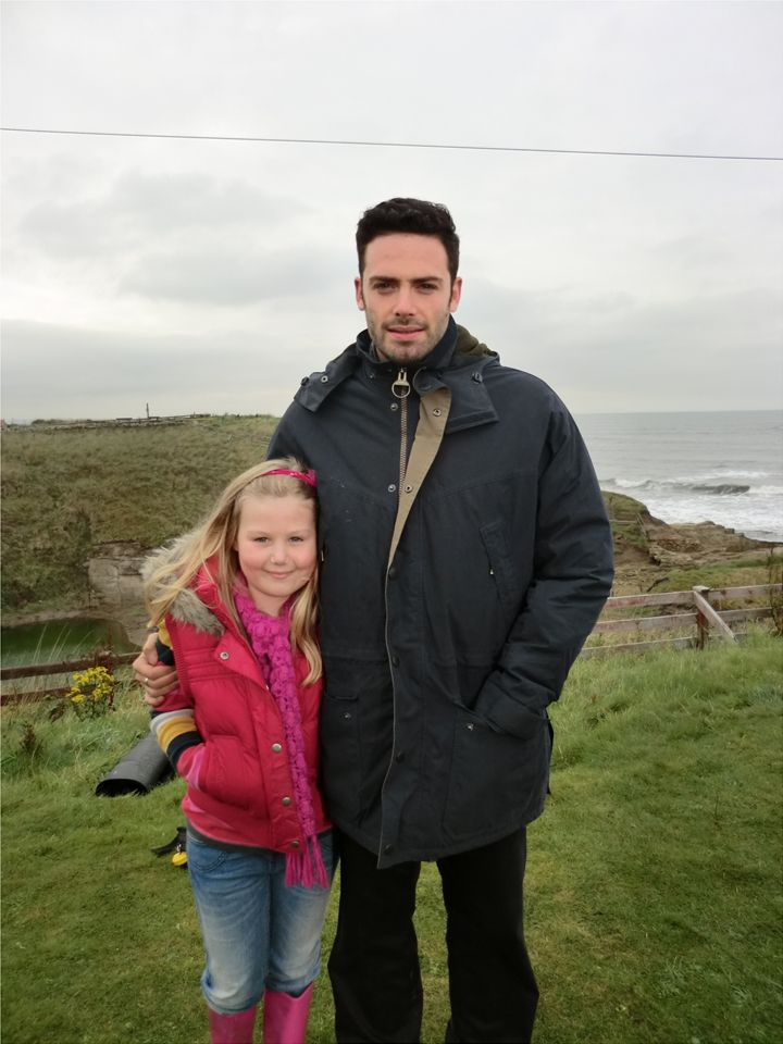 Abigail J  Abigail and David Leon filming on location for