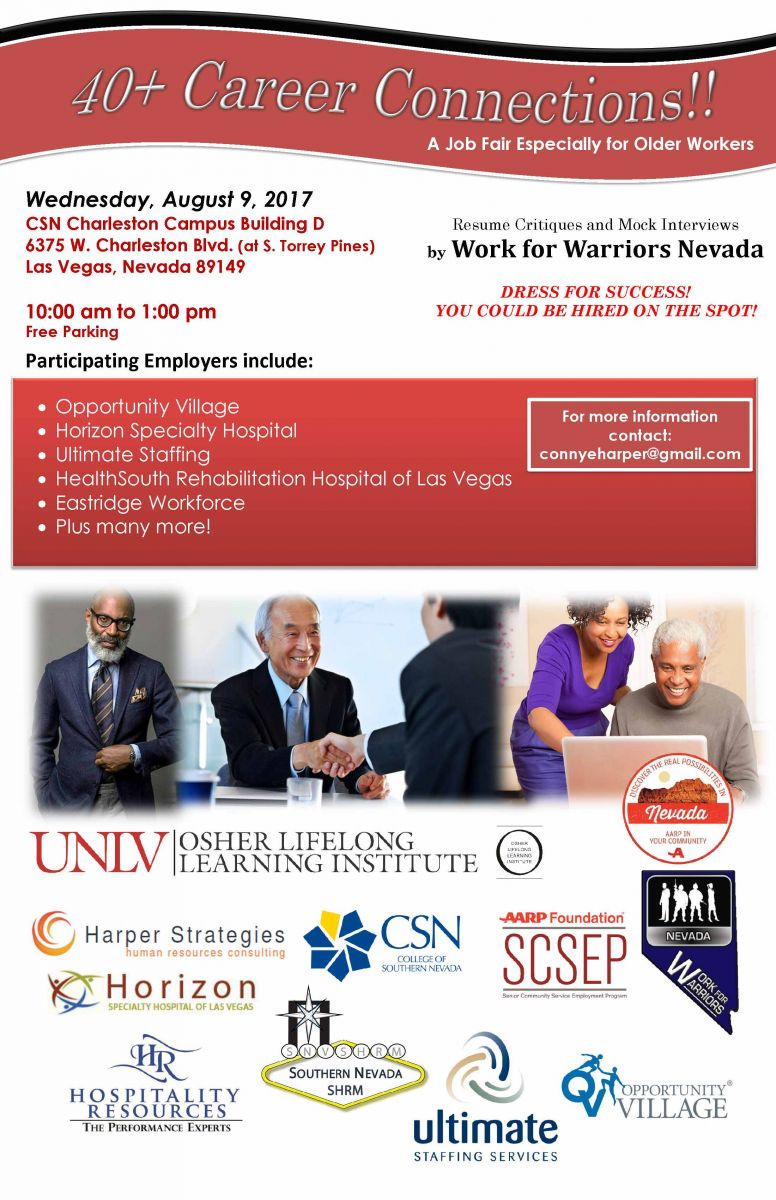 Job Fair for Mature Workers | Southern Nevada SHRM (SNVSHRM)