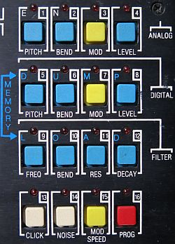 Simmons SDS 7 buttons