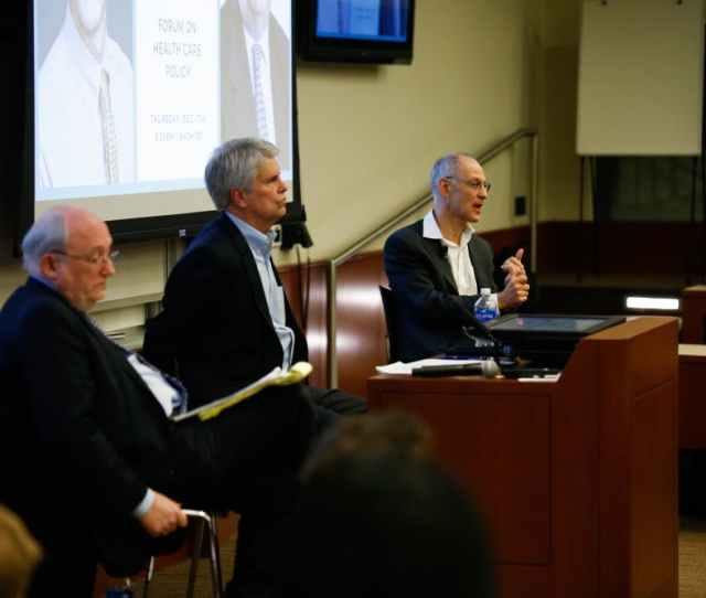 Ezekiel Emanuel And Thomas Miller Debated Opposing Health Care Views At Penn On Thursday