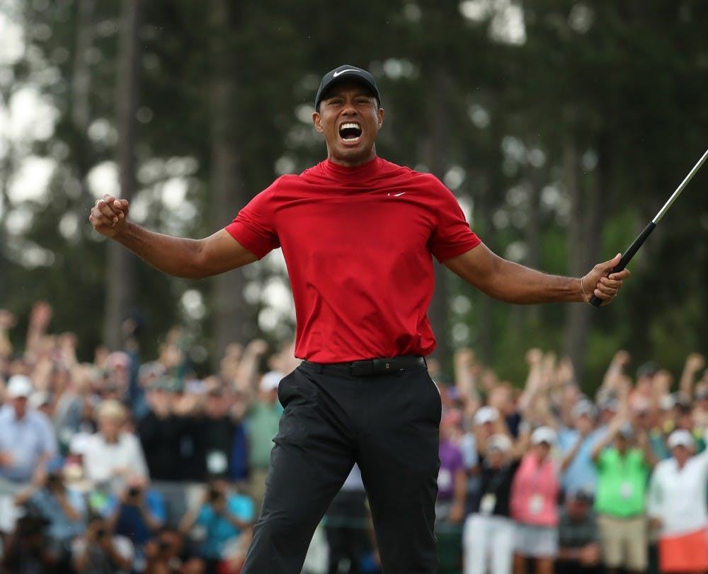 Column With His Fifth Masters Title Tiger Woods Cements