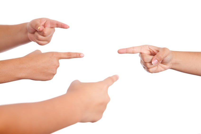 Image result for finger pointing after a shooting