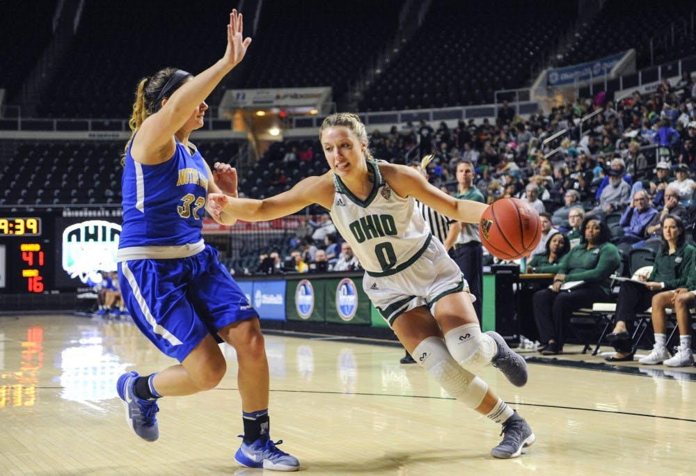 Women's Basketball: Taylor Agler scores game-winning layup and free throw as Ohio beats Akron 70-67