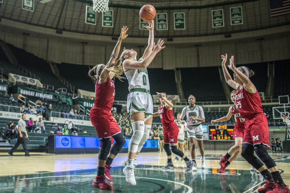 Women's basketball: Bobcats' defensive woes continue in last home game of season against Miami