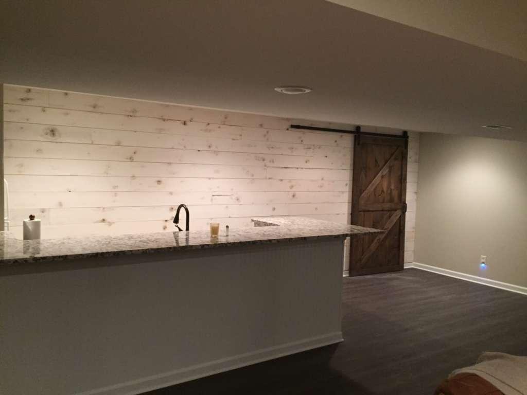 small corner hutch kitchen home depot backsplash shiplap and barn door – snyder carpentry remodeling