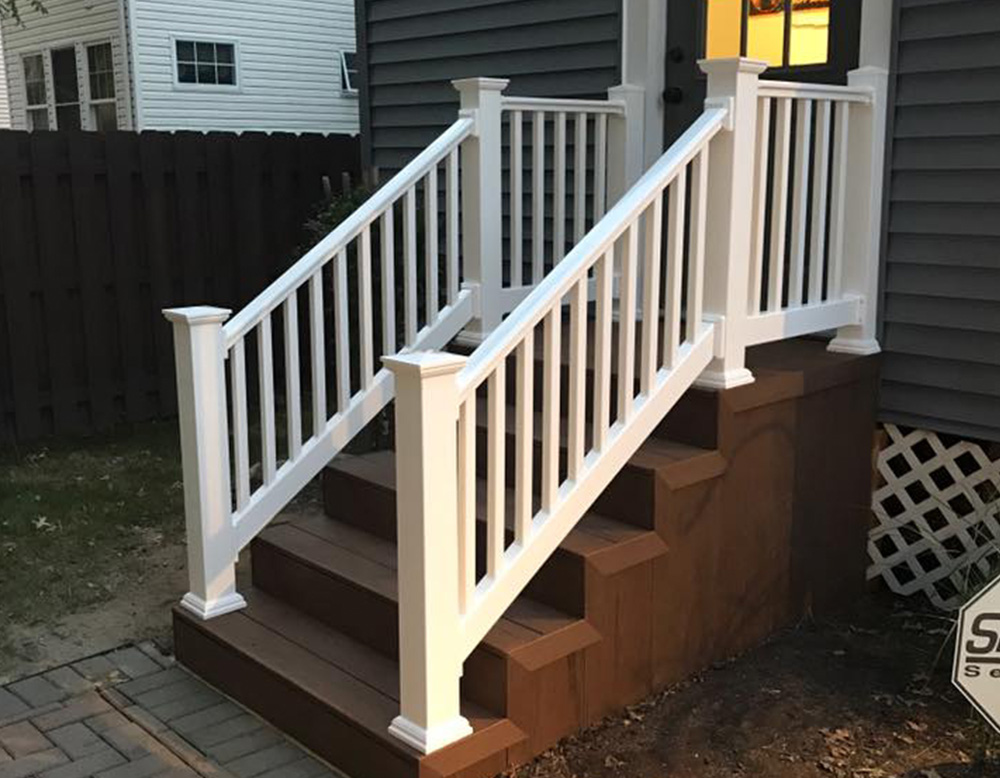 Exterior Composite Stairs  Vinyl Railings  Snyder Carpentry and Remodeling