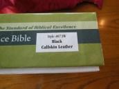 NASB Reference Bible Genuine Calfskin Black 003