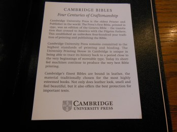 cambridge kjv, holman ministers kjv and funky lil kjv 021