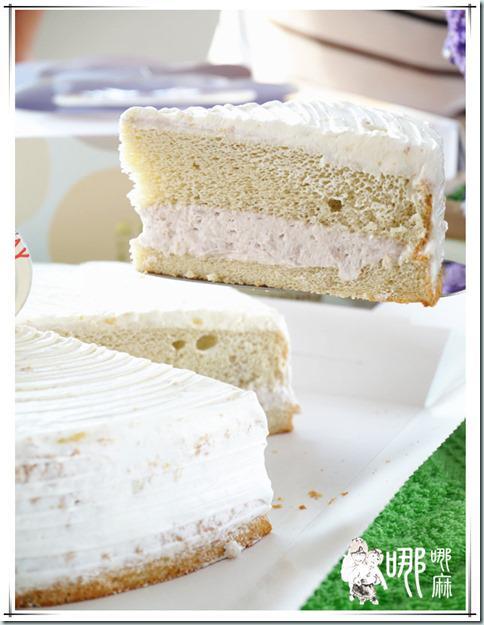 芋頭牛奶蛋糕切片