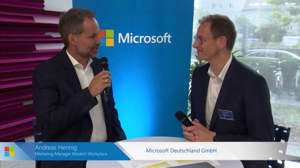 Frank bei Microsoft im Interview