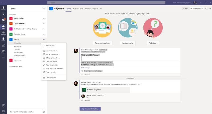 Externe in Microsoft Teams hinzufügen