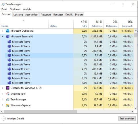 Microsoft Teams Task Manager