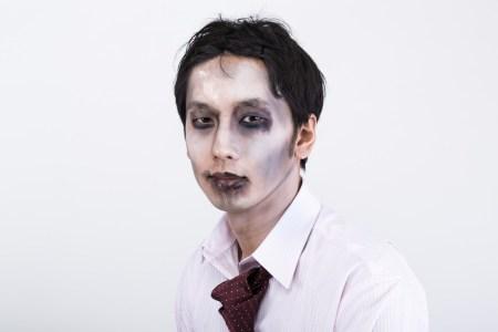 ハロウィン カンタン メイク 男性 ゾンビ ドラキュラ ガイコツ