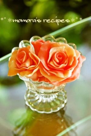 バレンタインに薔薇のデコチョコ