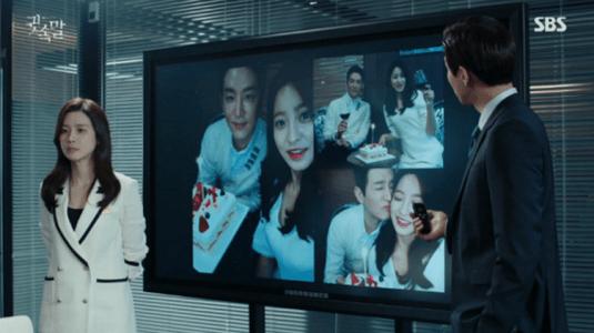 韓国ドラマ「耳打ち(ささやき)」9話 証拠画像を見せるイ・ドンジュン