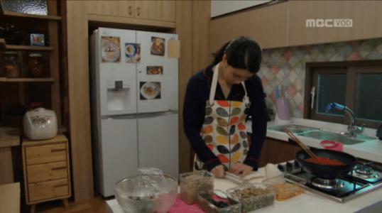吹けよ、ミプン第28話 朝ご飯の準備をするキム・ミプン