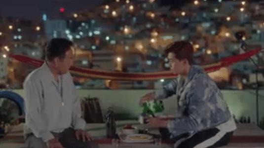 韓国ドラマ「サム、マイウェイ」12話 屋上に行く父とコ・ドンマン
