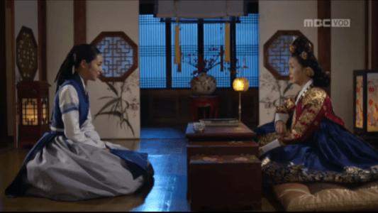 獄中花(オクチュンファ)第43話 文定王后と話すオンニョ