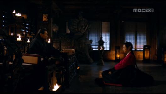 「君主(クンジュ)~仮面の主人~」第9話 テモクと話すファグン