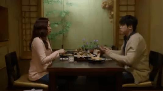 「お父さんが変」第8話 日本食を食べるジュニョン