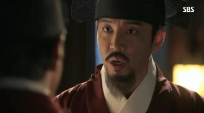 「秘密の扉」第14話 王に助言するジェゴン