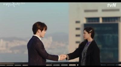 [愛の不時着] 第6話 握手するダンとスンジュン