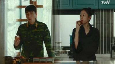 [愛の不時着] 第16話 リンゴを食べるセリとジョンヒョク