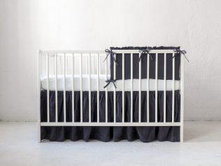 Lniany ochraniacz do łóżeczka modułowy