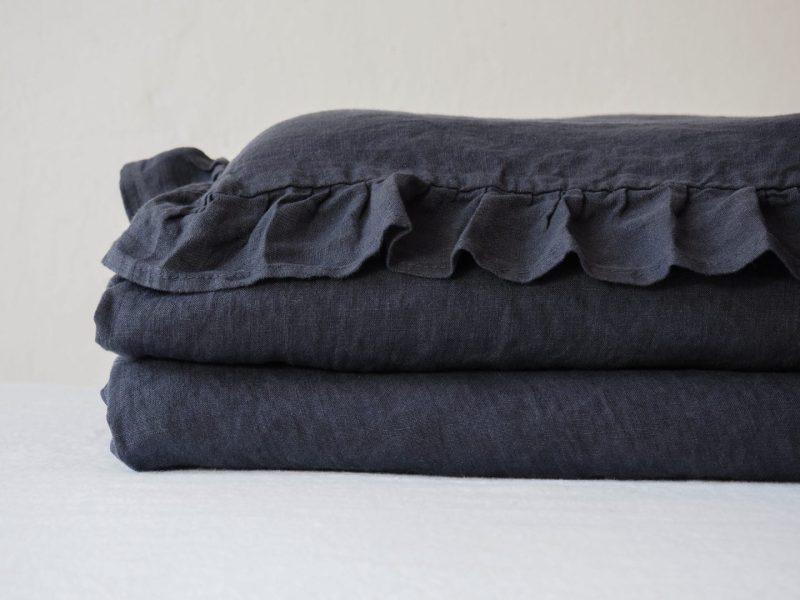 Lniana pościel do łóżeczka 120x60 cm