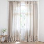 Beige Linen Curtains 100 Stonewashed Linen